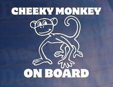 CHEEKY MONKEY ON BOARD Funny Novelty Vinyl Car/Window/Bumper Kids Sticker/Decal