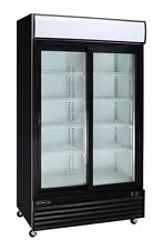 Kool-It KSM-36 Commercial 2-Door Glass Refrigerator Display Cooler Merchandiser