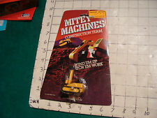 Mitey Machines Construction Team--galoob white knob wind-up PILE DRIVER moc