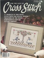 Leisure Arts For The Love Of Cross Stitch September '89 Magazine Autumn Harvest