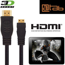 @TAB sette, 9.7, 10.1, 13,3 Android Tablet PC Mini HDMI a HDMI TV 5M Cavo Oro