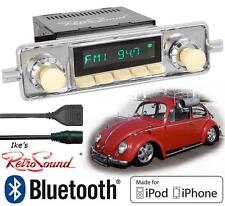 RetroSound 58-67 VW Bug Model TWO-IV Radio/BlueTooth/iPod/USB/Mp3/3.5mm AUX-In