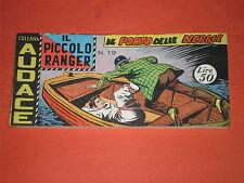 PICCOLO RANGER 2°SERIE II°-N°19 DEL 1959-STRISCIA -COLLANA AUDACE-araldo rara