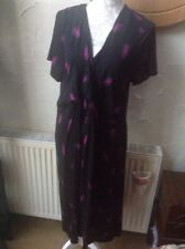 BNWT Size 22/24 (50/52) Black Floral Dress From Evans Christmas Party RRP £45