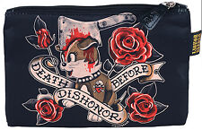 Liquor Brand DEATH before Dishonor DOGGIE Cosmetic Bag Tasche Rockabilly