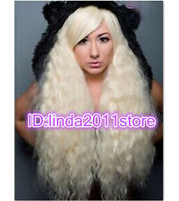 Lolita Gradient Rhapsody Long Curly Wavy Blonde Full Wigs Hair Cosplay Party Wig