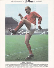 Bobby Charlton, Manchester United & England, vintage 1960's Typhoo Tea card.