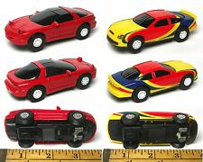 2 pc Artin 1/43 scale Ford Taurus vs Chevy Chevrolet Camaro Slot Race Car PAIR