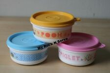 Tupperware Disney Winnie The Pooh Snack Cup Bowl 7 oz. Container (3) New