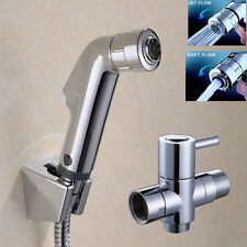 "2 Function Douche Toilet Handheld Bidet Shower Spray Shattaf Kit 7/8""Adapter Set"