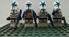 Star Wars Clone Captain Rex & 3 X 501st legion Troopers figures free Lego guns