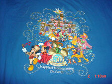 Disneyland-Tinkerbell-Mickey-Minnie Pinocchio-Alice-Beauty-Beast-Goofy-Shirt-XL
