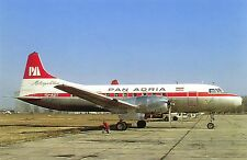 Pan Adria Convair CV-440 YU-ADT at Zagreb March 1975 Vintage Aviation Postcard