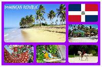 DOMINICAN REPUBLIC - SOUVENIR NOVELTY FRIDGE MAGNET - BRAND NEW - GIFT / XMAS