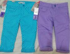 Dos nuevas chicas estrella urbano filles Jeans-con Puntos Turquesa & Púrpura Talla 5