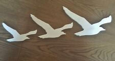 Seagull Wall Decorations Wall Bird Art Wood Engraving Set Of Three Free Shipping