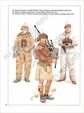 PLANCHE UNIFORMS PRINT WWII United kingdom British Army Armée Britannique Europe