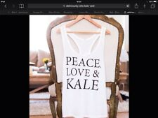Deliciously Ella Peace Love and Kale Vest Size Medium  BNWT