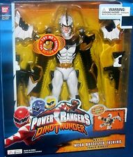 Power Rangers Dino Thunder White 12 Inch Mega Battlized Talking Ranger New