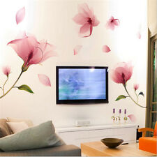 DIY Removable Pink Flower Wall Sticker Vinyl Mural Decals Home Living Room Decor
