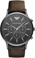 NEW EMPORIO ARMANI AR2462 MENS GUNMETAL CHRONOGRAPH WATCH - 2 YEAR WARRANTY