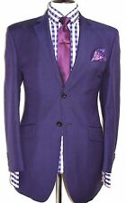 LUXURY  MEN'S OZWALD BOATENG  BESPOKE COUTURE PURPLE COUTURE SUIT40R W34 X L31