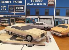 "Papercraft 1975-1978 Ford LTD Brougham coupe EZU-build ""Paper"" Car toy model"