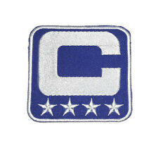 NEW NFL BLUE CAPTAIN WITH STAR LOGO SYMBOL EMBROIDERED IRON ON PATCH SHIRT PO606