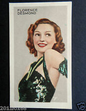 figurines figurine attori cigarette cards 47 florence desmond actrices actress v