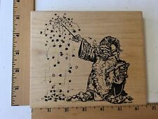 Wizard in Action Rubber Stamp by Visual Image Printery (VIP) 1992 - NEW