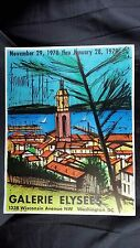 ORIGINAL Bernard Buffet LARGE vintage color lithograph Galerie Elysees  POSTER