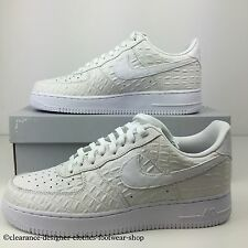 NIKE AIR FORCE 1 07 LV8 TRAINERS NEW MENS WHITE CASUAL SHOES UK 12 RRP £90