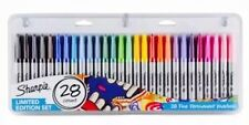 28 SHARPIE PERMANENT MARKER PENS Paper Metal Glass Wood COLOURS Black Sharpies