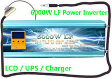 6000W LF Split Phase PSW 12V DC/110V,220V AC 60Hz Power Inverter LCD/UPS/Charger