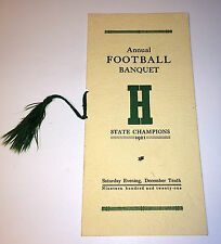 Rare Antique Hebron Academy Football State Champions 1921! Maine Sports History!