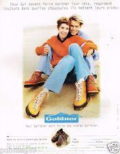 Publicité advertising 1997 Les Chaussures Galibier
