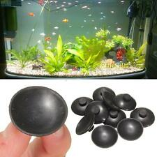 10 x Black Soft Plastic 27mm Suction Cup Clip Sucker For Aquarium Fish Tank Pump