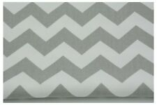 Grey Chevron , Zig Zag, QUALITY UPHOLSTERY FABRIC100% Cotton Fabric  240 gr