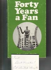 Edward F. Doyle Autographed Forty Years a Fan Hardcover Book 1972 Baseball