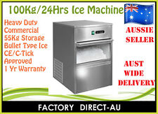 HEAVY DUTY COMMERCIAL 100Kg/24 HOURS ICE MAKER/MACHINE RRP:$2800