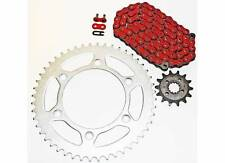 1993-2013 Honda XR650L 650L Red Non O Ring Chain and Sprocket 15/45 110L