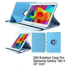 "For Samsung Galaxy Tab 4 10.1"" Screen Protector/ Rotating PU Leather Case Cover"