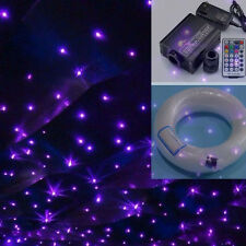 16W RGB LED Fiber Optic Star Ceiling Lights Kit 150pcs 0.75mm*2m+28 RF Remote