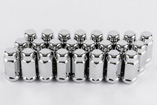 "Set 20 14mm x 1.5 Wheel Lug Nut 3/4"" Hex 1.9"" Length Chrome Acorn Bulge Tundra"