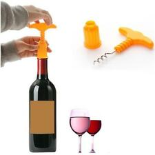 New Creative Plastic Wine Bottle Cap Funny Opener Corkscrew Bar Tool Gift KH.