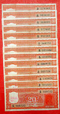 1 PIC 20 TWENTY RUPEES SIGENED BY S.JAGANNATHAN ORANGE COLOR RARE NOTE- INDIA
