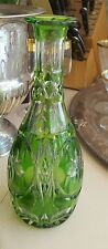 Beautiful Ajka Green Cut to Clear  Decanter No stopper