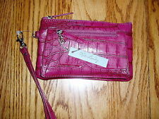 NWT KATE LANDRY Wine Leather Wristlet Very Classy!