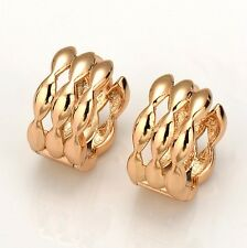 New 18k Yellow Gold Filled Womens Earrings 14mm Huggie Hoops Fashion Jewelry