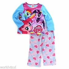 NWT My Little Pony Fleece Pajama Set Rainbow Dash, Twilight, Pinkie Size 4 Girls